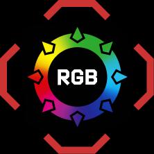 RGB 16.8 mln kolorów